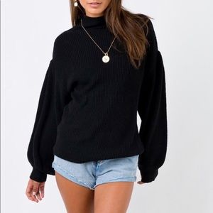 Tunnel Vision Black Sweater